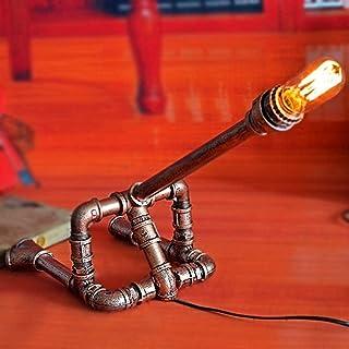 Lampe de Table Lampe de Table de Style rétro Industriel Recherche personnalité créative Barre de Fer café Lampe de Table à...