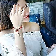 Natal Lucky red Hand-Woven Couple Lover Plated 18k Rose Agate red String Bracelet Bangle Hand Rope Money Bags Women Girls Models