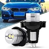 LED イカリング バルブ 適用BMW 3 シリーズ E90前期 E91前期 2005-2008 CREE 6W 6000K LED 警告灯キャンセラー内蔵 エンジェルアイ ヘッドライト 純正交換バルブ LED リングマーカー ホワイト 2個入り