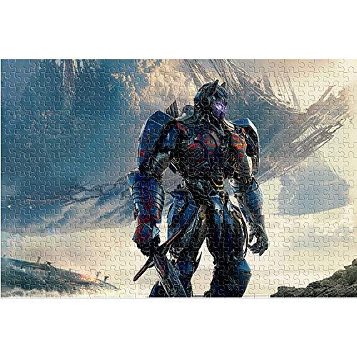 KKASD 1000 Piezas de Rompecabezas para Adultos y niños Optimus Prime Puzzle para Adultos 1000 Transformers Juguete del Juego del Rompecabezas del desafío del Cerebro (75x50cm)