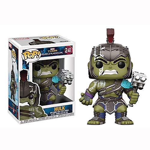 YYBB Thor Ragnarok - Hulk con casco Gladiador Pop!Vinilo figura colección Figuras regalos de juguetes del cabrito de decoración del hogar estatua ornamental de la obra maestra de la figura 3.9 pulgada