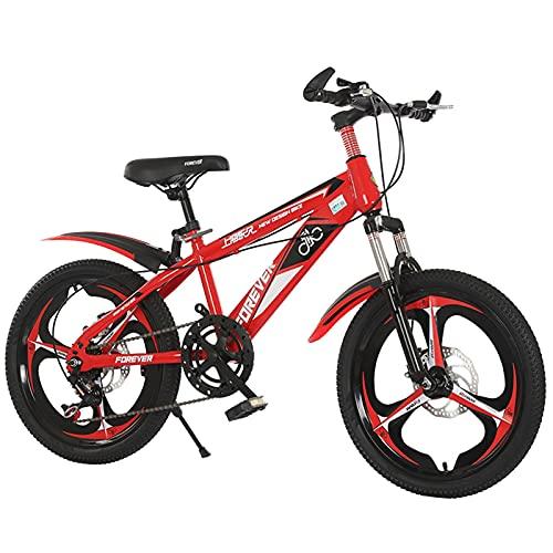 Axdwfd Infantiles Bicicletas Bicicleta para niños 18/20 Pulgadas niños y niñas Ciclismo, Adecuado para niños de 7 a 14 años, 3 Colores (Color : C, Size : 20in)