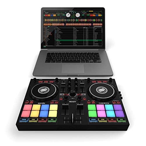 Reloop Ready Controladora de DJ compacta de 2 reproductores diseñada para Serato DJ Lite & DJ Pro, AMS-READY