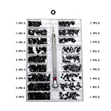 LZL 18 Tipos 500Pcs Mini Kit Tornillo DIY + 1,6 mm Destornillador for el Ordenador portátil de reparación Ensamble el Tornillo de fijación de Tornillos (Color : O)