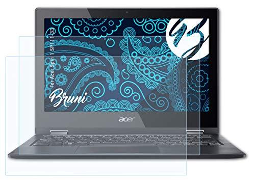 Bruni Schutzfolie kompatibel mit Acer Spin 1 SP111-33 Folie, glasklare Bildschirmschutzfolie (2X)