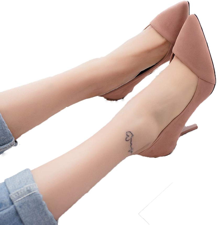 GanQuan2018 Women Kitten-Heels Pumps,Slip on Pointed Thin High Heels Bridal Sexy Dress shoes