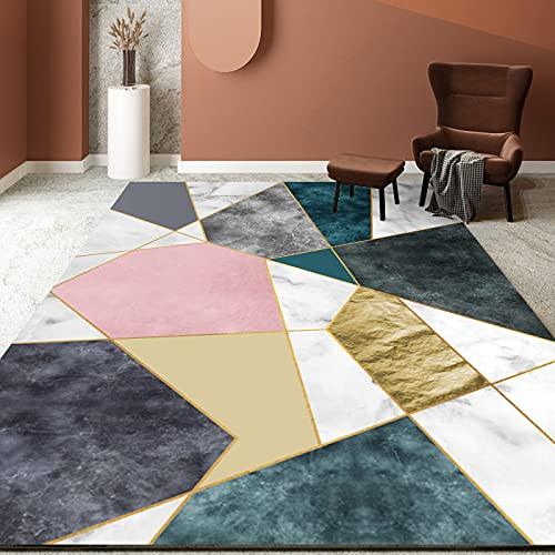 Alfombra Geométrica Moderna De Estilo Simple Gruesa Impermeable Antideslizante Y Lavable Adecuada para El Dormitorio La Sala De Estar El Pasillo