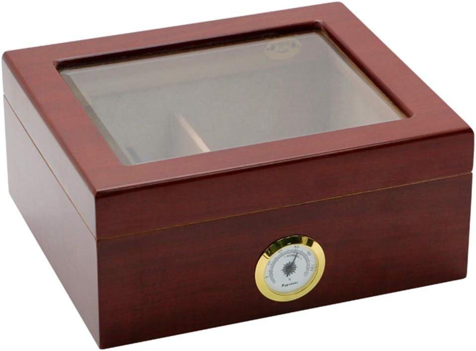 Humidor Regular store [Alternative dealer] Cigar 40 Box with Hygrometer Glass Humidifier