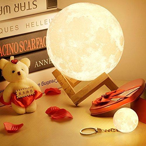 Lampe 3D tactile en forme de lune