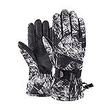 PJRYC Guantes de esquí Guantes de Snowboard Gloves de Moto de Nieve cálida (Color : Black White, tamaño : S)