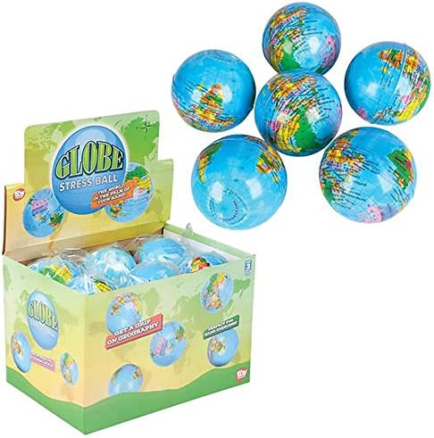 The Dreidel Company World Globe Squeeze Ball Bunch Stress Ball Stress Anxiety Relief Toy Planet product image