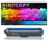 SinoCopy toner-mero - Tóner XXL para Brother TN-241 TN-245 DCP-9020 CDW HL-3140 3150 3170 CW CDN CDW MFC-9130 9140 9330 TN241 TN245, color cian