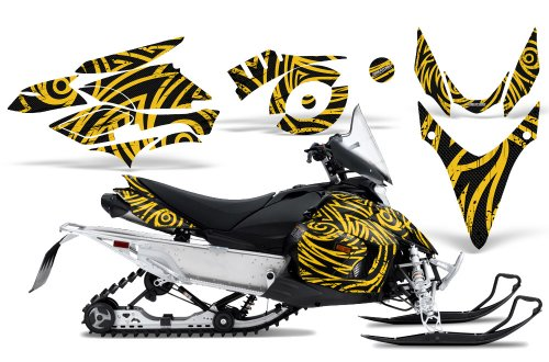 CreatorX Graphics Kit Decals Stickers for Yamaha Phazer Rtx Gt Mtx Snowmobile Sled TribalZ Yellow