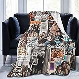 Friends TV Show F lannel Fleece Lamb Wool Blanket Blooming Colorful Ultra Soft Cozy Warm Throw Anti-Static Lightweight Microfleece Blanket Throw Blanket
