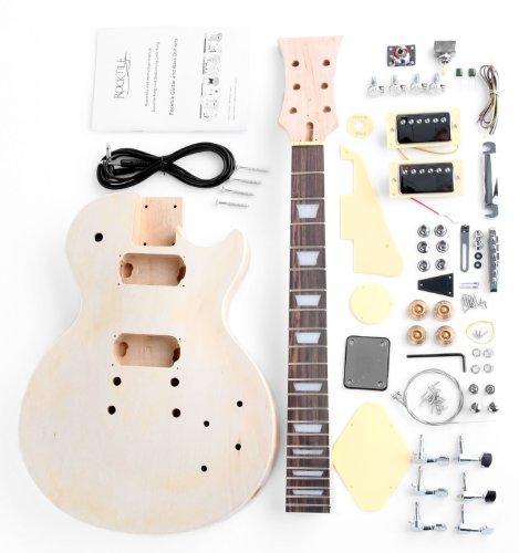 Rocktile DIYLP - Kit completo montaje de guitarra eléctrica tipo Single Cut