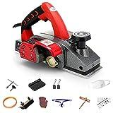 LZHFILTER Kit Cepilladora Manual Eléctrica, 1600 W, Profundidad Ajustable, con 2 Cuchillas Acero Alta Velocidad, Pequeña Cepilladora Eléctrica Trabajar Madera