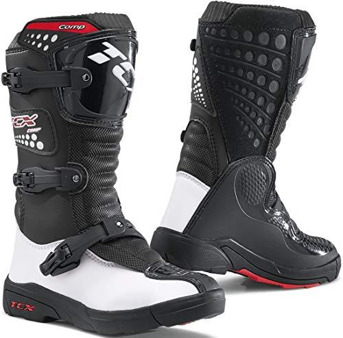 TCX Comp Motocross laarzen voor kinderen 34 EU zwart/wit/rood