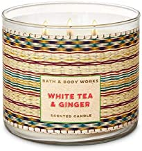 Bath and Body Works 3 Wick Scented Candle in White Tea and Ginger 14.5 Ounce