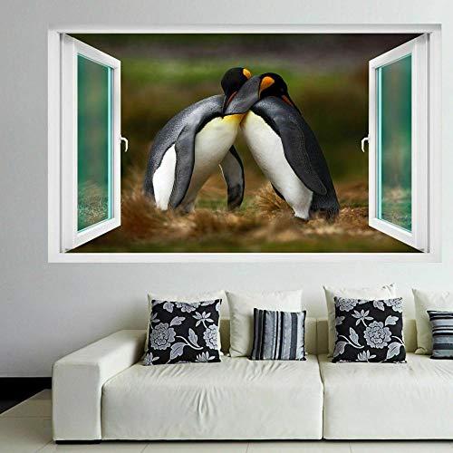 Pegatinas de pared Pingüinos Animal Wall Art Stickers Mural Póster de vinilo autoadhesivo Habitación de niños FG1-70x100cm