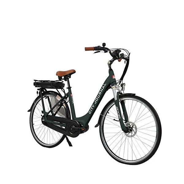 """51IE1XSnfsL. SS600  - AsVIVA E-Bike Damen Hollandrad 28"""", Tiefeinsteiger (13Ah Akku), 7 Gang Shimano Schaltung, Mittelmotor, Scheibenbremsen, grau"""