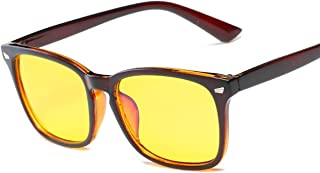 Lightweight Anti-Radiation Anti-blue Rays Computer Reading Radiation Resistant Glasses Gaming Googles(brown & yellow)