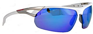 28 SPT Unisex Adult Sport Sunglasses Shades Wrap Blue Mirror 10220224