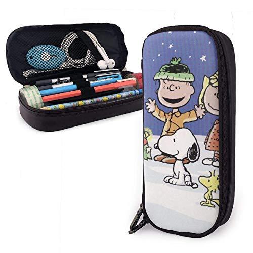 Frohe Weihnachten, snoo-py Big Capacity Federmäppchen Ledermäppchen Schreibwaren Tasche Reißverschlusstasche Bleistifthalter