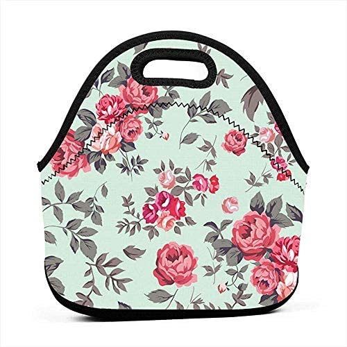 Neopreen Lunch Box LunchBags Herbruikbare Lunch Bag Flower Print Lunch Bag Thermische Lunch Pouch met Draagbare