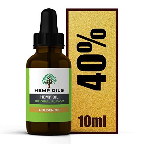 Extracto de cáñamo de 40 %, 4000 mg (dorado) – 10 ml...