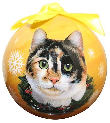 Calico Cat Christmas Ornament Shatter Proof Ball