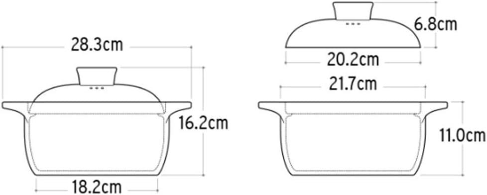 WZF Casserole en céramiqueBande DessinéePot de groupeRésistant aux Hautes températures2.5L Cutelion de Taille Moderne Stubbornbear