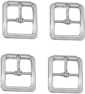 Baoblaze 4pcs Center Bar Buckles Pin Single Prong Belt Buckle DIY Accessories