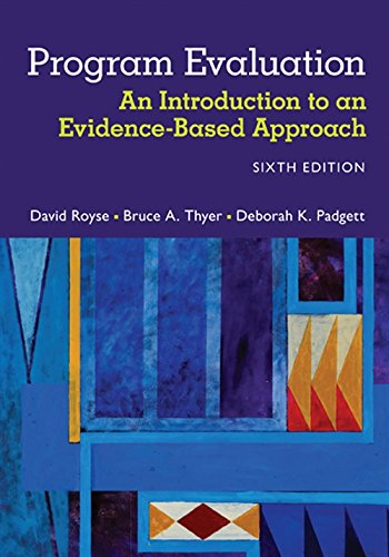 Compare Textbook Prices for Program Evaluation: An Introduction to an Evidence-Based Approach 6 Edition ISBN 9781305101968 by Royse, David,Thyer, Bruce A.,Padgett, Deborah K.