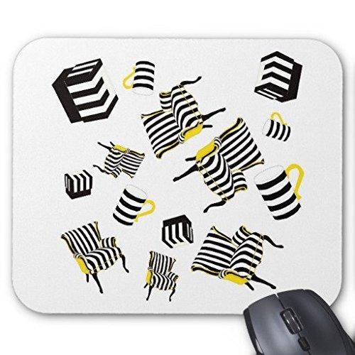TAZAS DE Sillas y cajas rectangulo Oficina de rayas de Gaming Mouse Pad Mousepad 9\x 7\