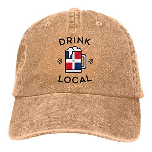 Snapback Hat Trinken Sie Lokale Dominikanische Hip Hop Hüte Winddichte Sonnencreme Baseball Cap Verstellbar Trucker Hut Sommer Papa Hut Verstellbare Geburtstagsgeschenk...