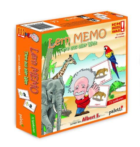 paletti Albert E. ICH Weiss was! LernMemo - Lernspiel Tiere aus Aller Welt