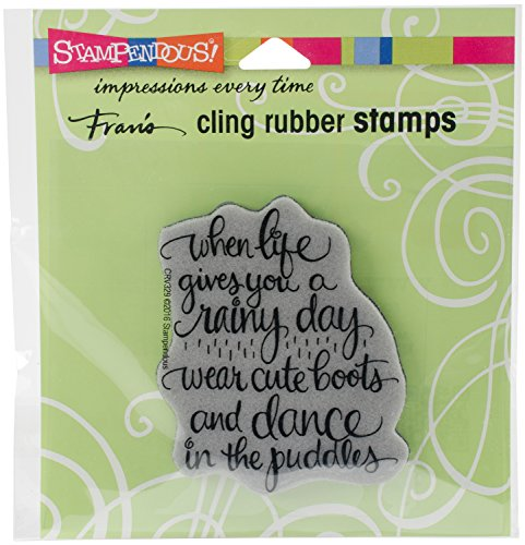 Stampendous Cling Stamp, Cute Boots