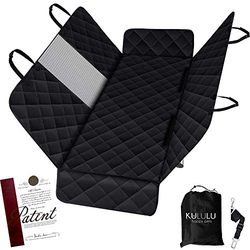 Kululu Dog Car Seat Cover for Back Seat - The Only Pet Seat Cover with Mesh Window for Stress Free Travel so You can See Each Other - Backseat Hammock Cover Protector for Cars-Patented (Standard Size)