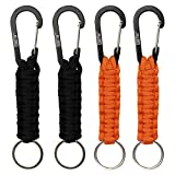 EOTW Keyrings Gifts for Women, Fashion Key Chain with Multi-Colour, Key Ring for Best Friends (2 Black 2 Orange)