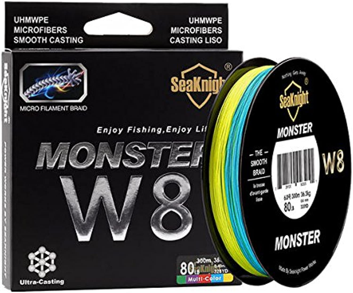 W8 300M 8 Strands Fishing Line Braided Wire Multi-colors 20-100LB Line Salt Water1.0