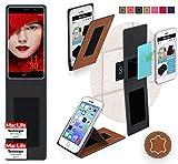 Hülle für Elephone P9000 Edge Tasche Cover Hülle Bumper | Braun Leder | Testsieger