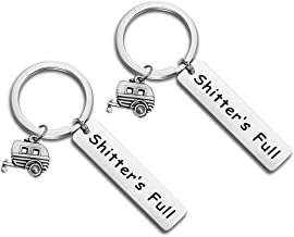 Shitter's Full Keychain Happy Camper RV Keychain Camping Keychain Trailer Christmas Vacation Jewelry