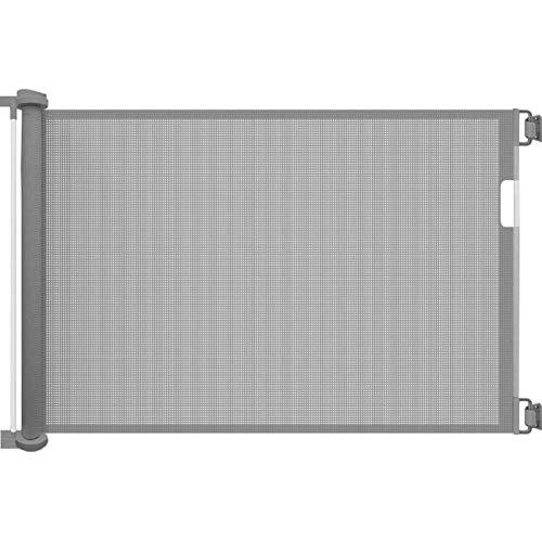 Callowesse® AIR - Cancelletto Porte e Scale Retraibile/Avvolgibile per la Sicurezza di Bambini e Cani - 0-130cm (110cm se utilizzato come Baby-Gate) (Grigio)