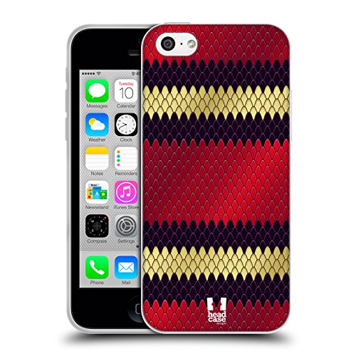 Head Case Designs Dreiecksnatter Schlange Muster Soft Gel Hülle für Apple iPhone 5c