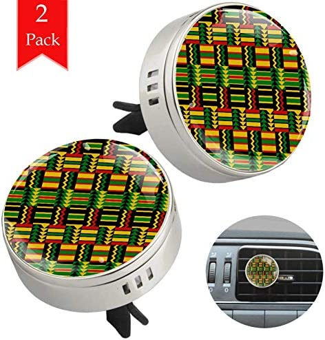 African Zig Zag Pattern 2 PCS Car Aromatherapy Vent Clip Essential Oil Diffuser Car Air Freshener product image