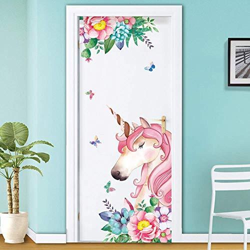GWFVA Pegatinas de Dibujos Animados creativos Pegatinas de habitación para niños Pegatinas en la Puerta Decoración Armario Dormitorio Pegatinas de Pared estéreo 3D Autoadhesivas