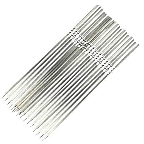 20 Stück wiederverwendbare Edelstahl-Grillspieße flach und breit Kabobspieße BBQ Grillspieße wiederverwendbar Metallspieße 30 cm Länge