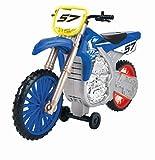 Dickie Toys Yamaha YZ Wheelie Raiders-Moto de Juguete motorizada de 26 cm con función de Rueda y Avance-Motocross, luz y Sonido-Incluye Pilas, Color Azul, (203764014)