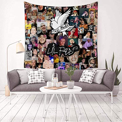 EAROBA Happy Birthday Gus Lil Peep Square Tapestry Art Wall Hanging for Home Decoration