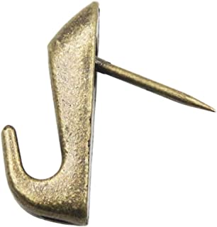 Antique Brass Push Pin Style Picture Hooks (24 - Pack)